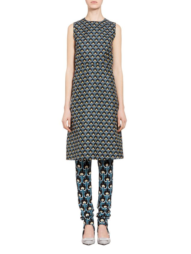 Marni Dress in cotton and silk with Portrait print Woman - 1