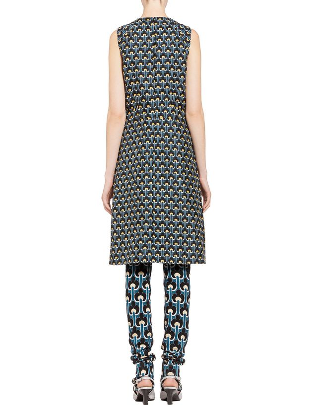 Marni Dress in cotton and silk with Portrait print Woman - 3