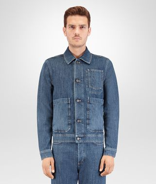 BLOUSON IN DENIM WASHED DENIM