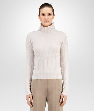 SWEATER IN CAMEO RIBBED CASHMERE