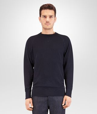 DARK NAVY COTTON JERSEY T-SHIRT