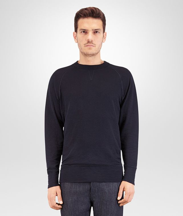 BOTTEGA VENETA T SHIRT IN JERSEY DI COTONE DARK NAVY Polo & T-Shirt Uomo fp
