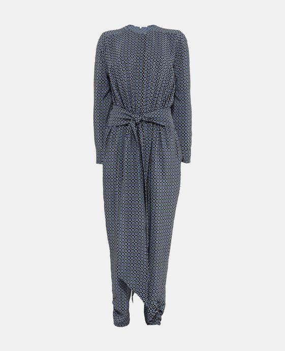 Michiella Tie Print Silk Jumpsuit