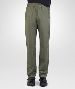 PANT IN ARTICHOKE COTTON POPELINE