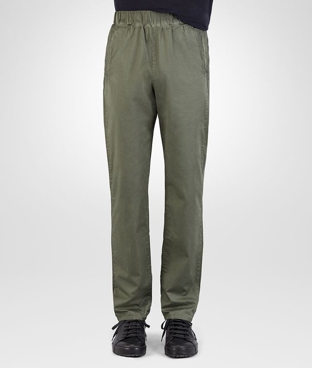 BOTTEGA VENETA PANT IN ARTICHOKE COTTON POPELINE Trouser or jeans Man fp