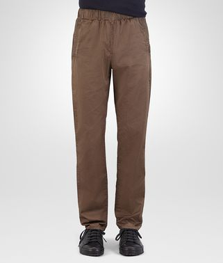 PANT IN STEEL COTTON POPELINE