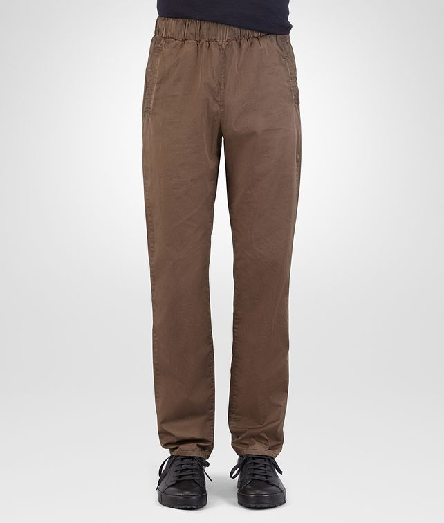 BOTTEGA VENETA PANT IN STEEL COTTON POPELINE Trouser or jeans U fp