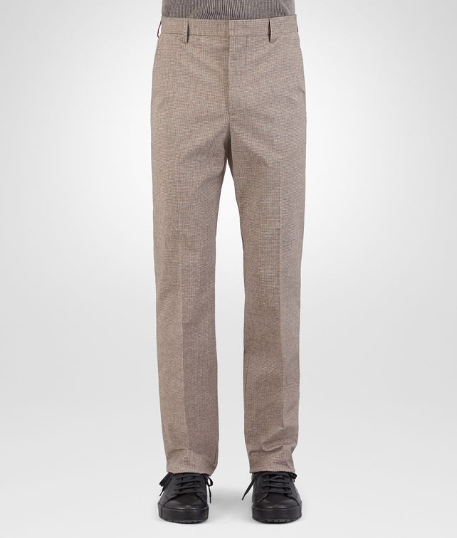 BOTTEGA VENETA PANT IN MULTICOLOR PIED DE POULE COTTON Trouser or jeans U fp