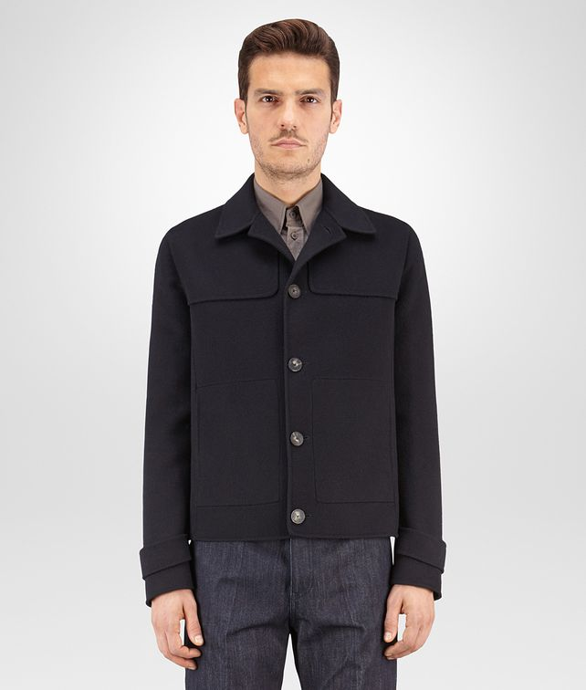 BOTTEGA VENETA BLOUSON IN DARK NAVY DOUBLE CASHMERE Coat or Jacket U fp