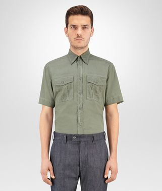 SHIRT IN ARTICHOKE COTTON POPELINE