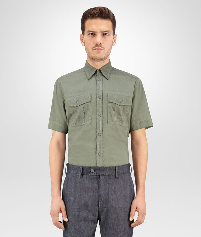 BOTTEGA VENETA SHIRT IN ARTICHOKE COTTON POPELINE Formalwear or shirt Man fp