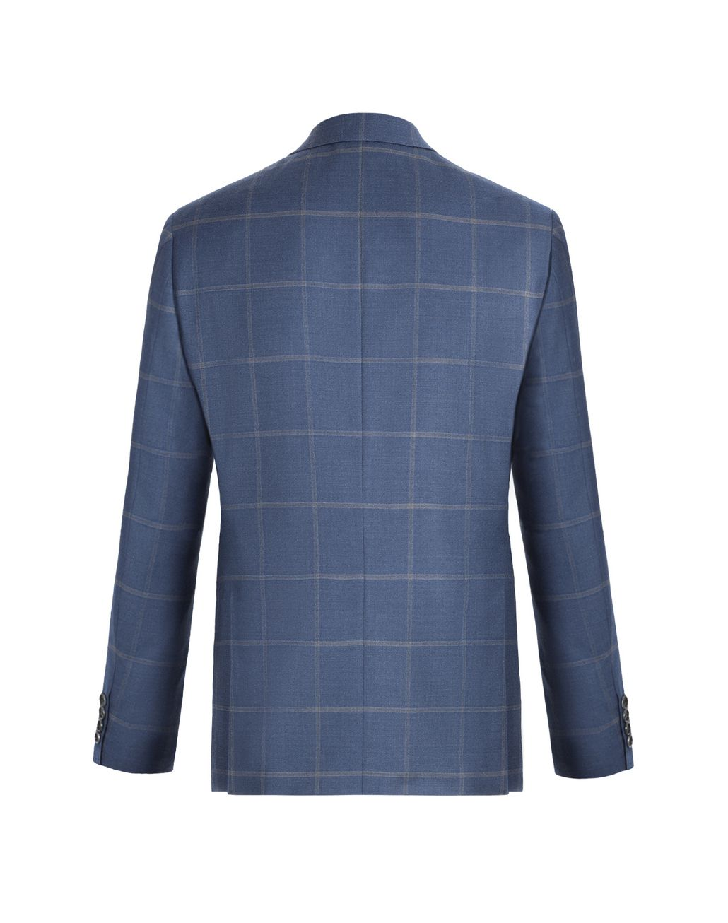 BRIONI Blue and Grey Overcheck Ravello Jacket Jackets U d