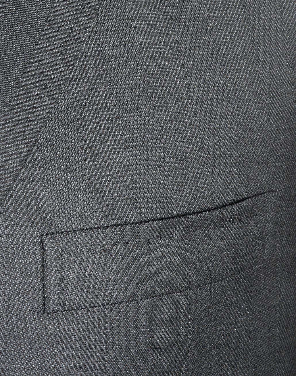 BRIONI Grey Herringbone Jacket Jackets [*** pickupInStoreShippingNotGuaranteed_info ***] d