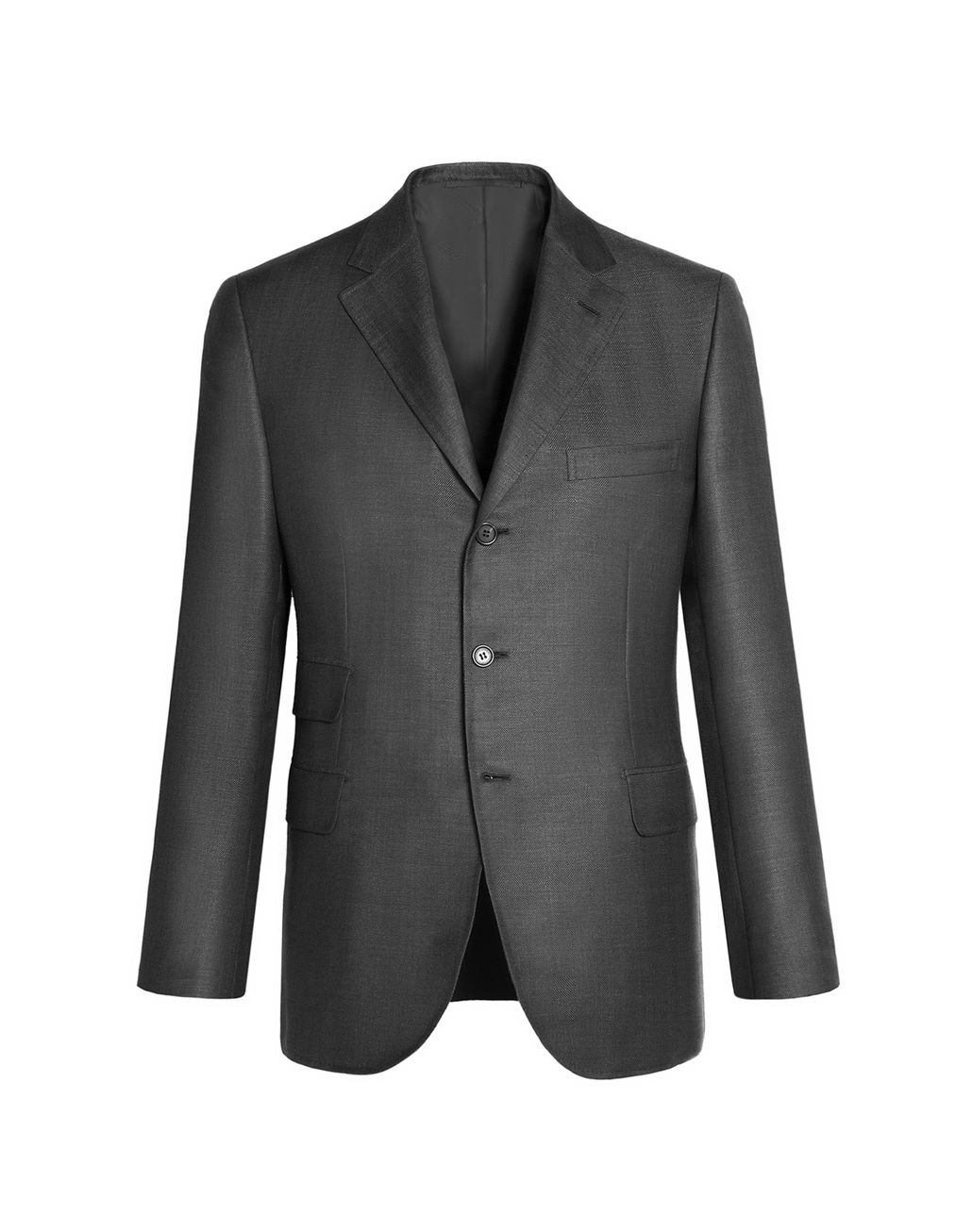 BRIONI Grey Herringbone Jacket Jackets Man f