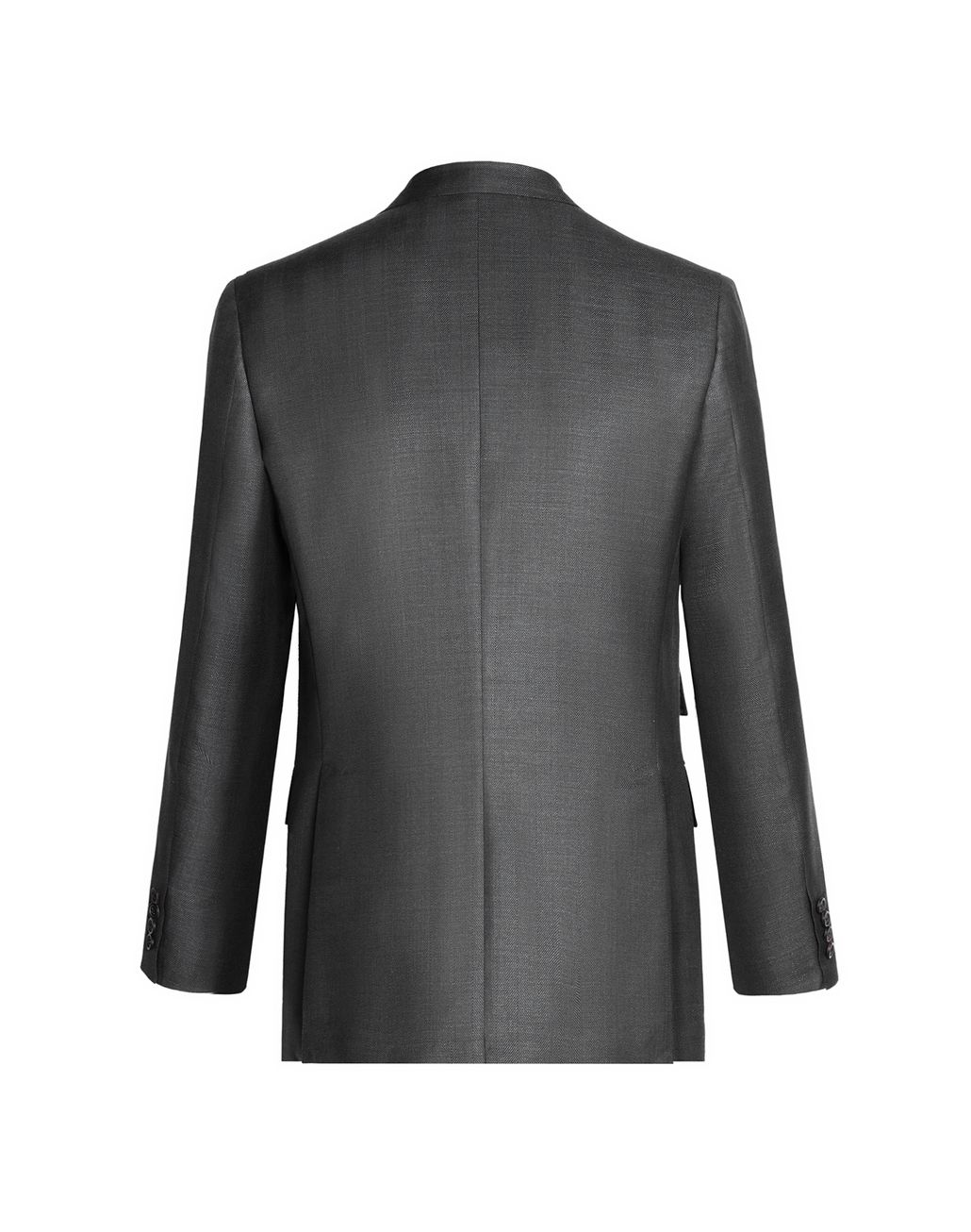 BRIONI Grey Herringbone Jacket Jackets Man r