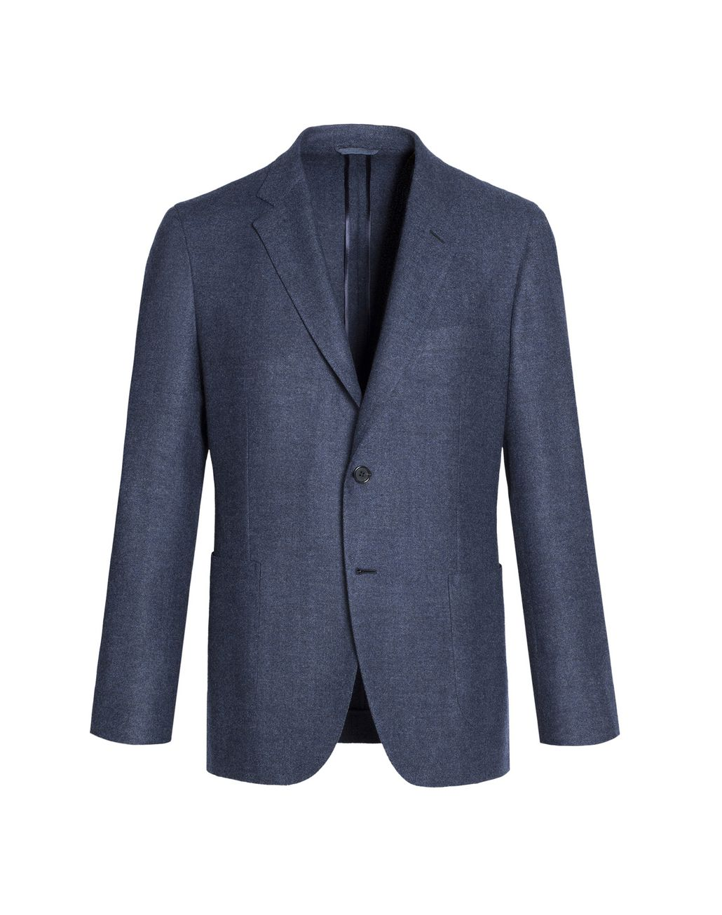 BRIONI Denim Blue Herringbone Plume Jacket Jackets Man f
