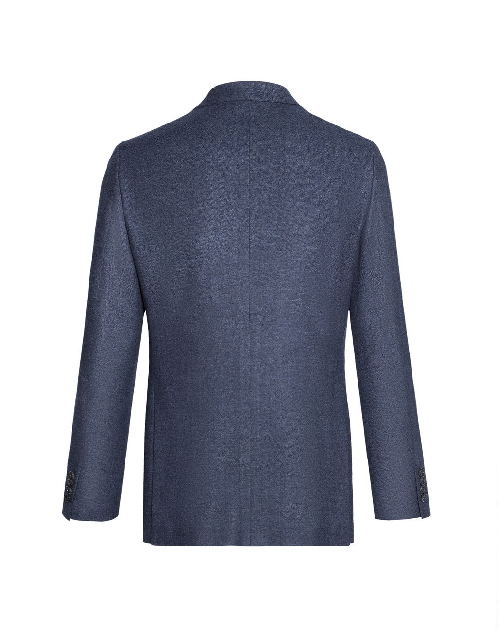 BRIONI Denim Blue Herringbone Plume Jacket Jackets Man r