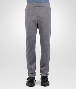 PANT IN NEW LIGHT GREY MELANGE COTTON WOOL JERSEY