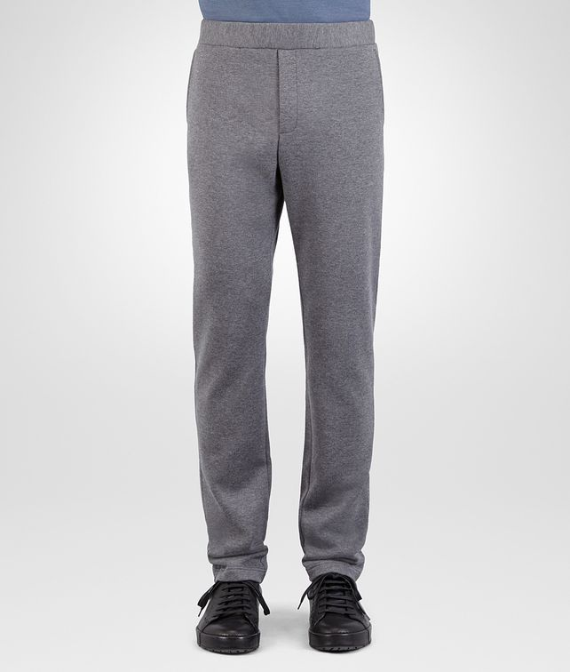 BOTTEGA VENETA PANT IN NEW LIGHT GREY MELANGE COTTON WOOL JERSEY Trouser or jeans Man fp