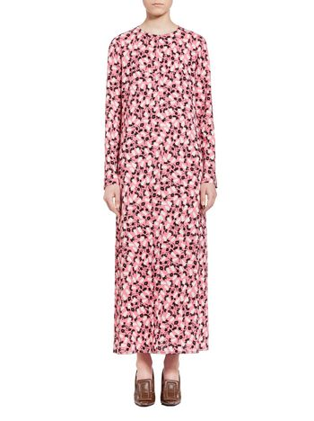 Marni Dress in sablé viscose Plume Woman