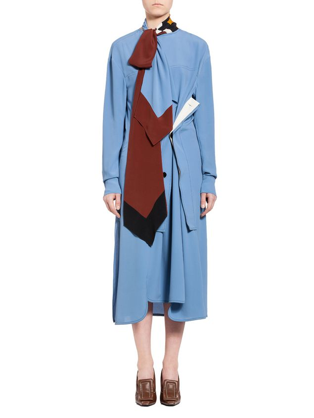 Marni Dress in washed acetate silk Woman - 1