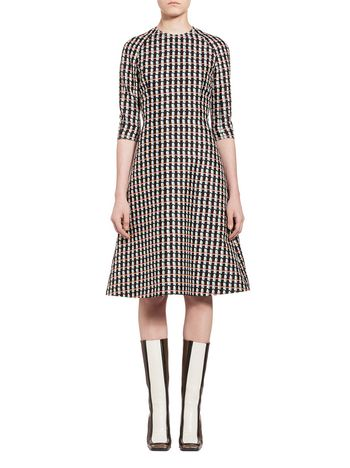 Marni Dress in cotton silk with Ripple print Woman