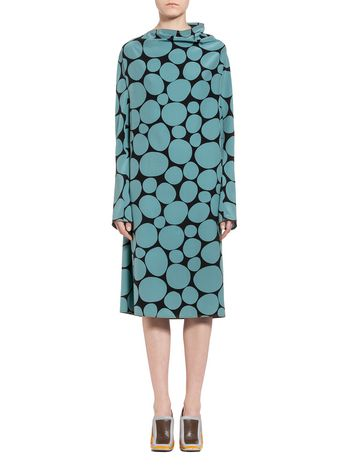 Marni Dress in silk crepe Pebble Woman