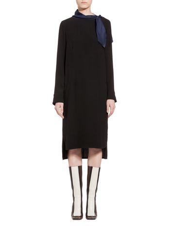 Marni Bow dress in crepe satin Woman