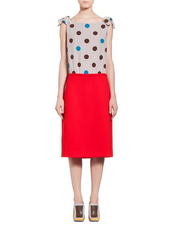 Marni Patchwork dress in double crepe Woman
