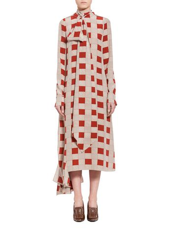 Marni Bow dress in silk Woman