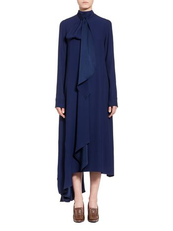 Marni Asymmetric dress in crepe Woman