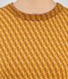 BOTTEGA VENETA SWEATER IN OCRE LEATHER NEW CASHMERE WOOL JACQUARD Knitwear or Top or Shirt D ap