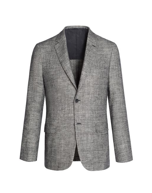 BRIONI Jackets U Gray and White Ravello Jacket f