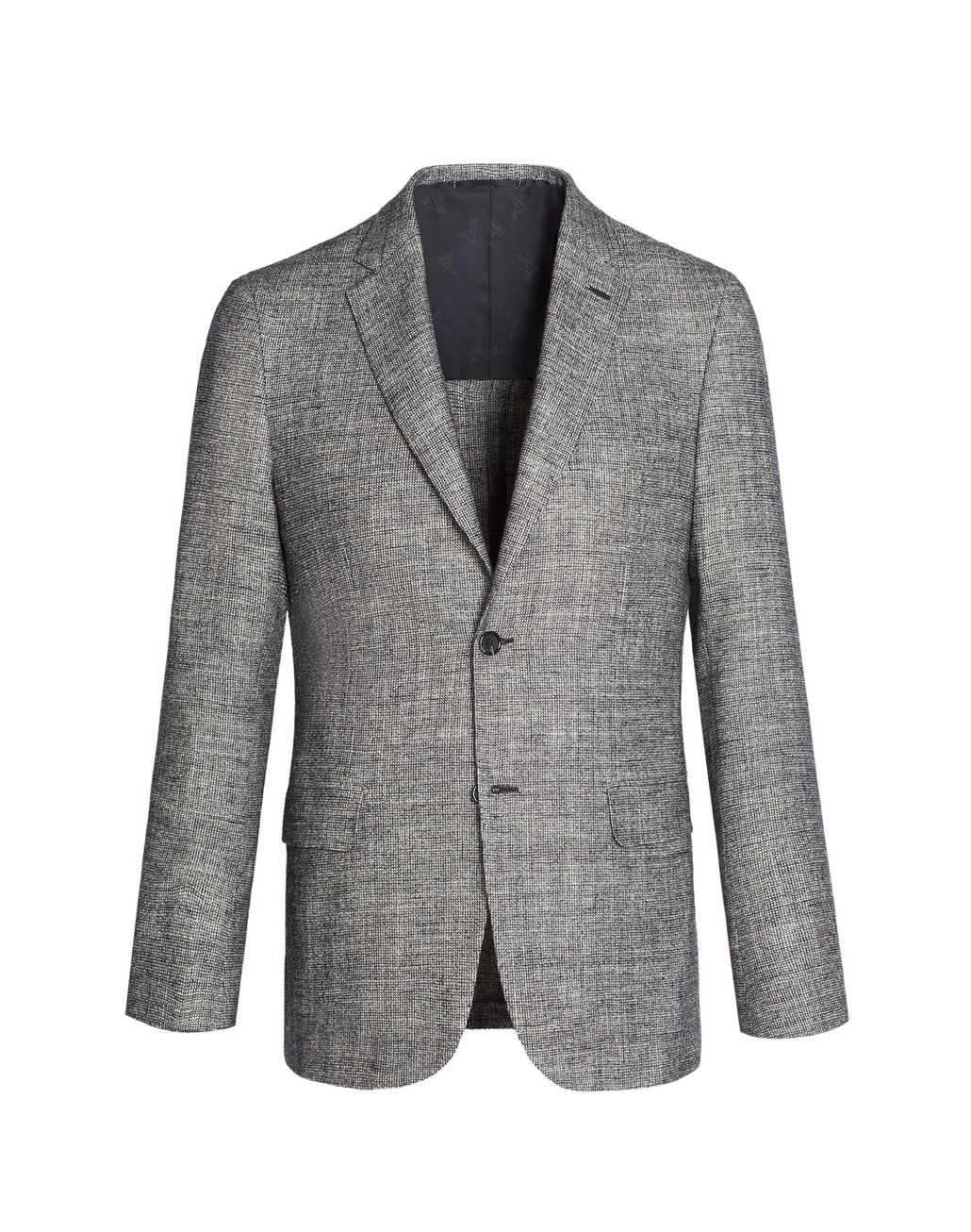 BRIONI Gray and White Ravello Jacket Jackets [*** pickupInStoreShippingNotGuaranteed_info ***] f