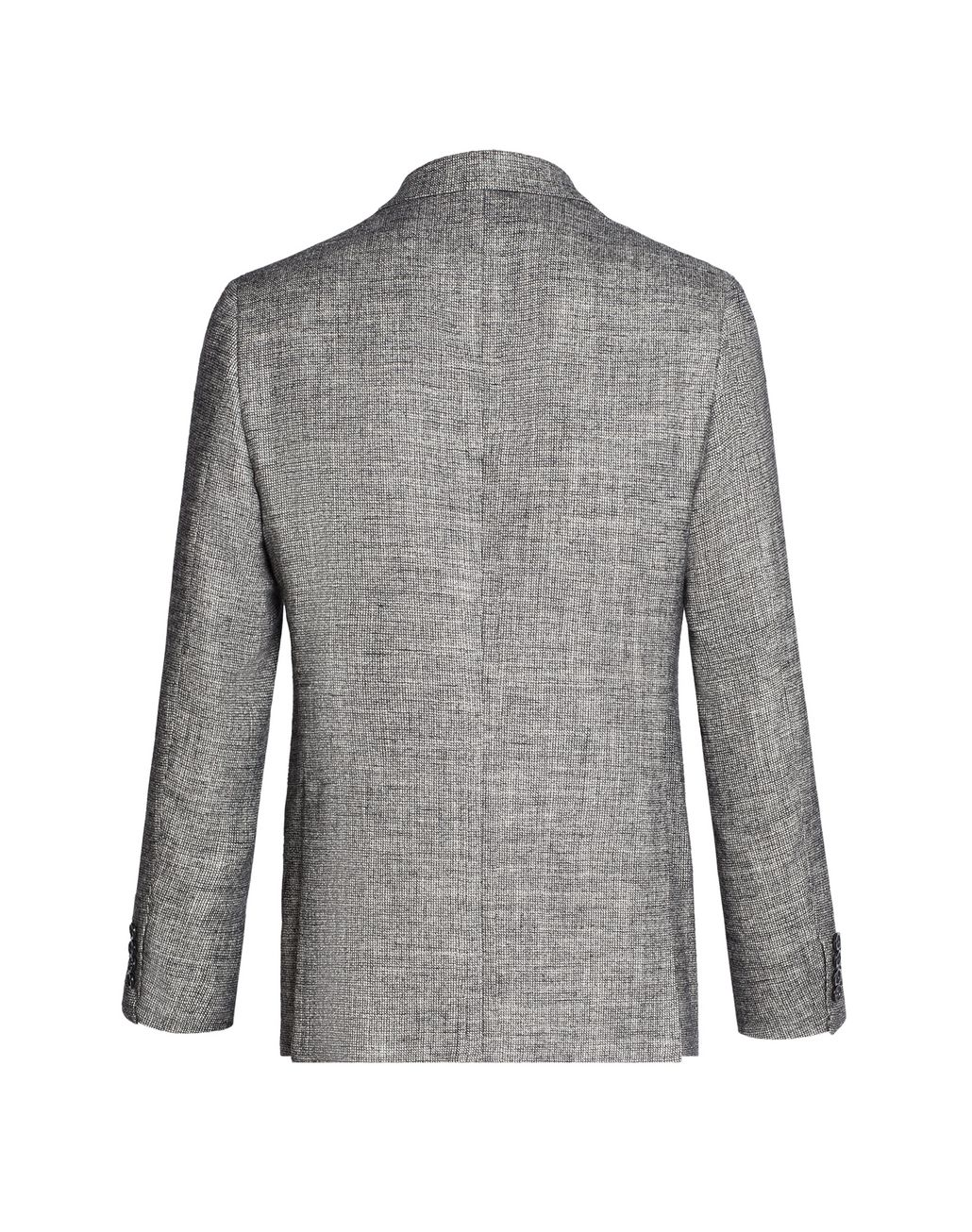 BRIONI Gray and White Ravello Jacket Jackets [*** pickupInStoreShippingNotGuaranteed_info ***] r