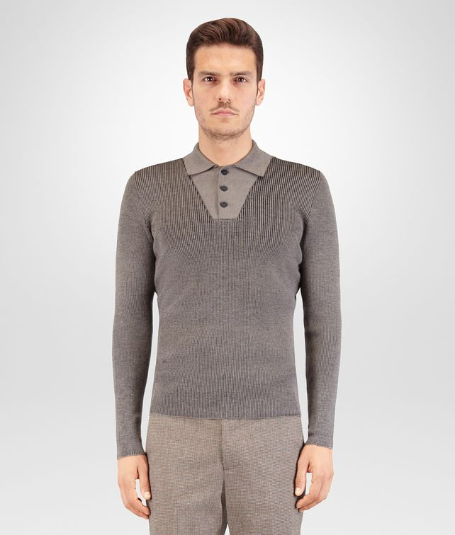 BOTTEGA VENETA SWEATER IN FUME' MERINOS WOOL Knitwear Man fp