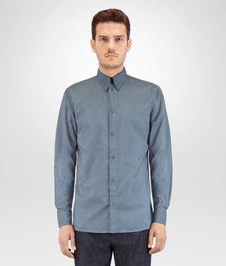 AIR FORCE BLUE COTTON POPLIN SHIRT