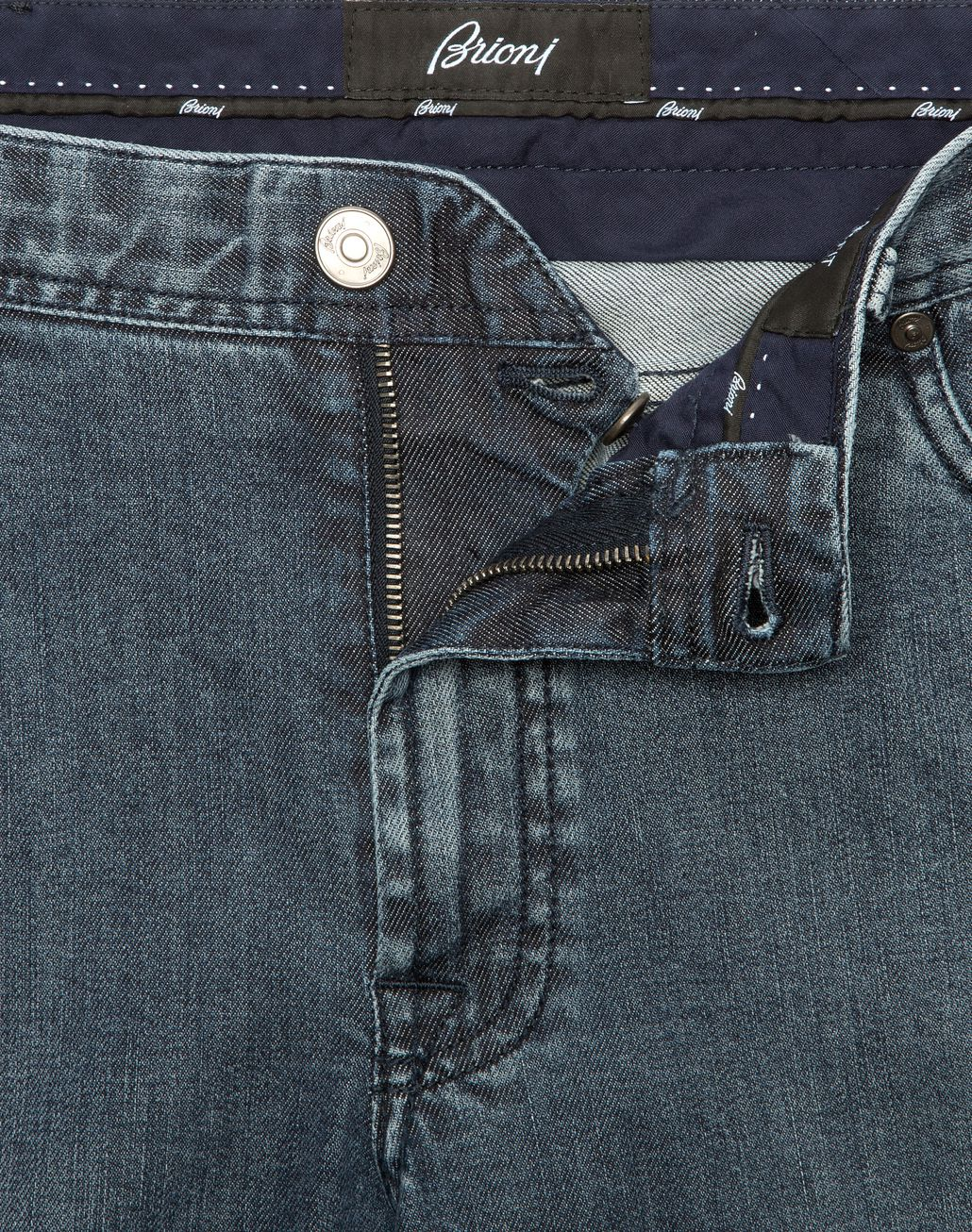 BRIONI Jeans Meribel Blu Navy Denim Uomo a