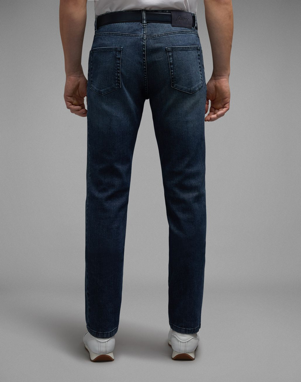 BRIONI Navy Blue Meribel Jeans Denim Man d