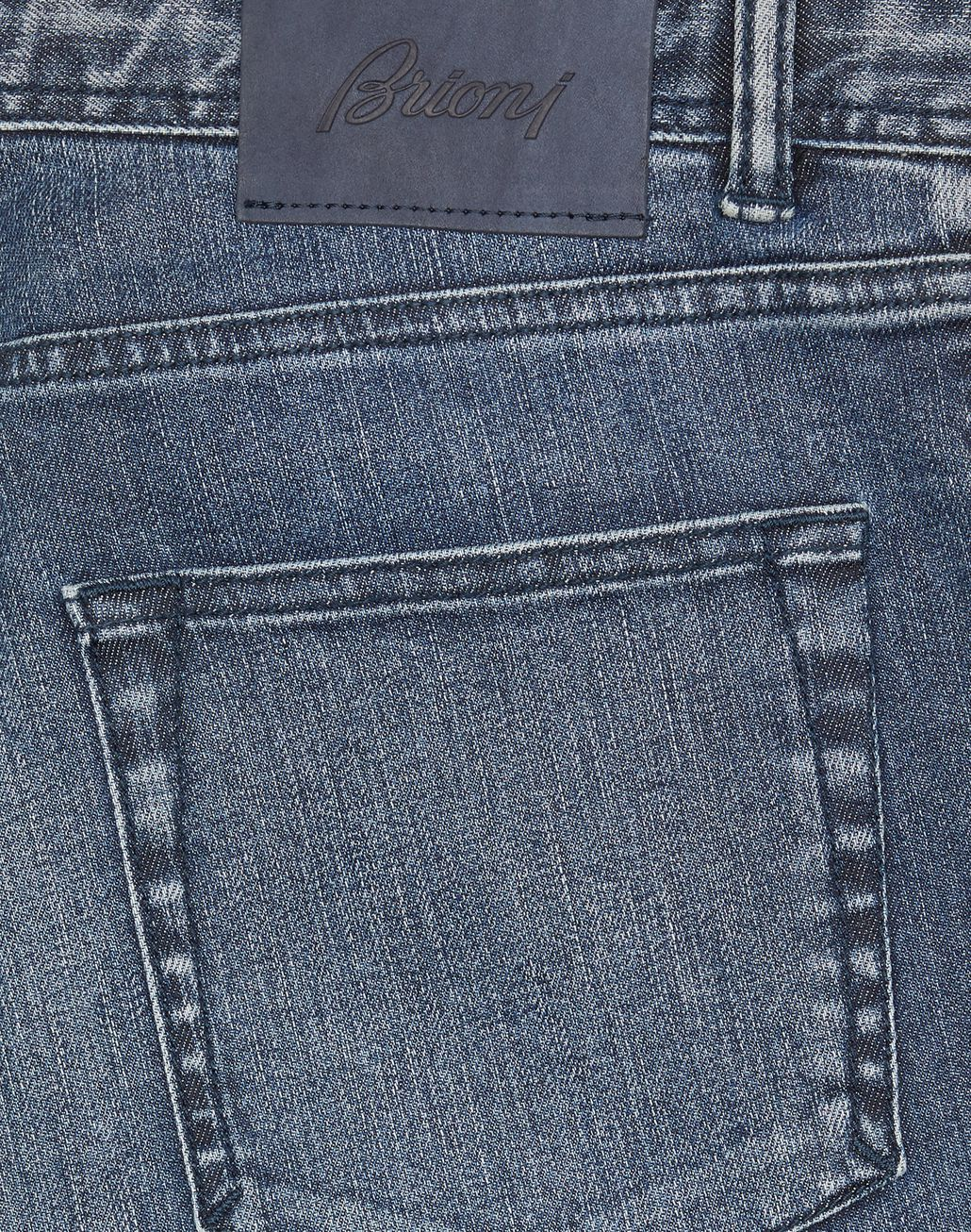 BRIONI Navy Blue Meribel Jeans Denim Man e