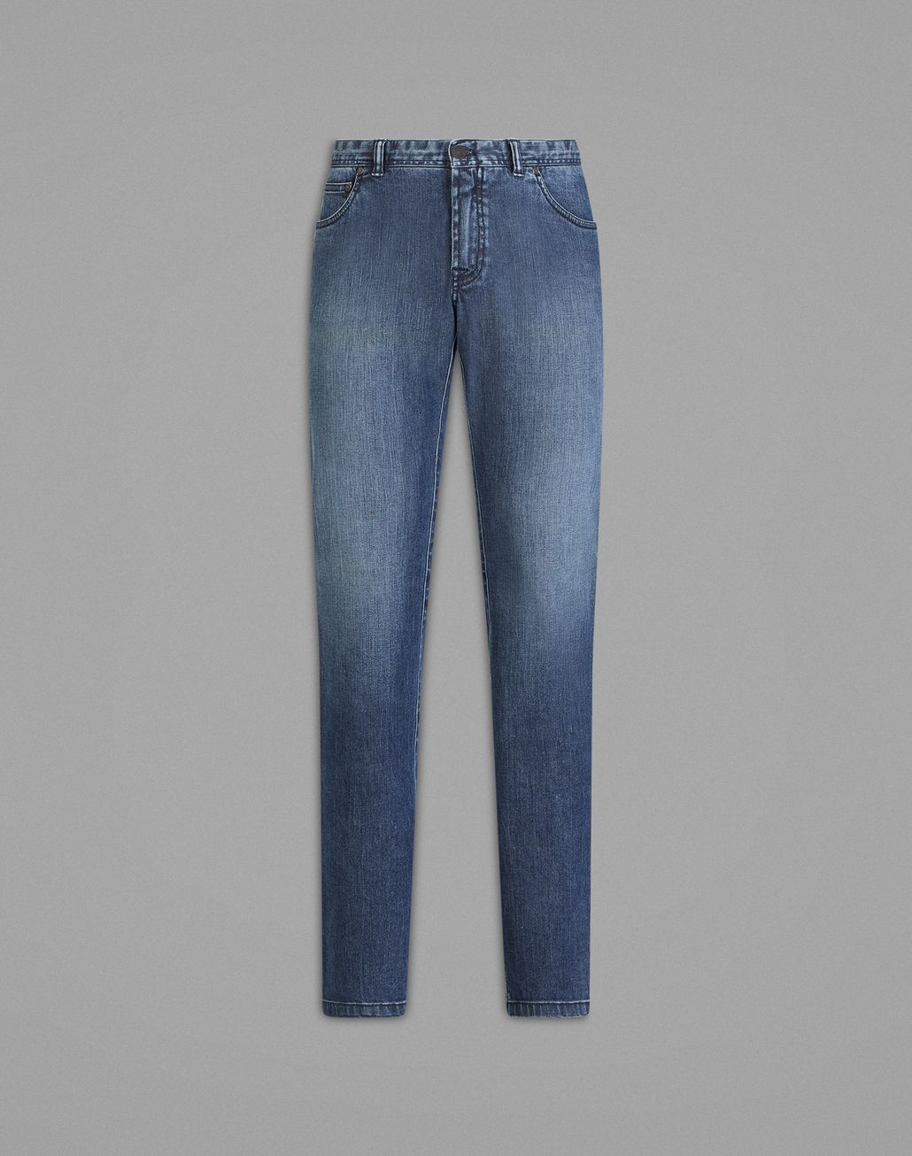BRIONI 'Essential' Navy Blue Regular Fit Jeans Denim Man f
