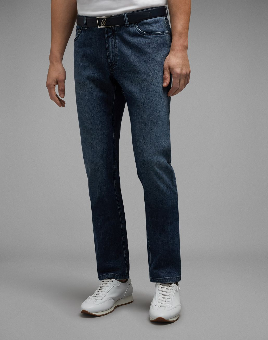 BRIONI Navy Blue Meribel Jeans Denim Man r