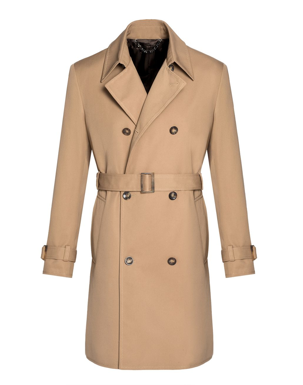 BRIONI Beige Double Breasted Trench Coat Coats & Raincoats U f