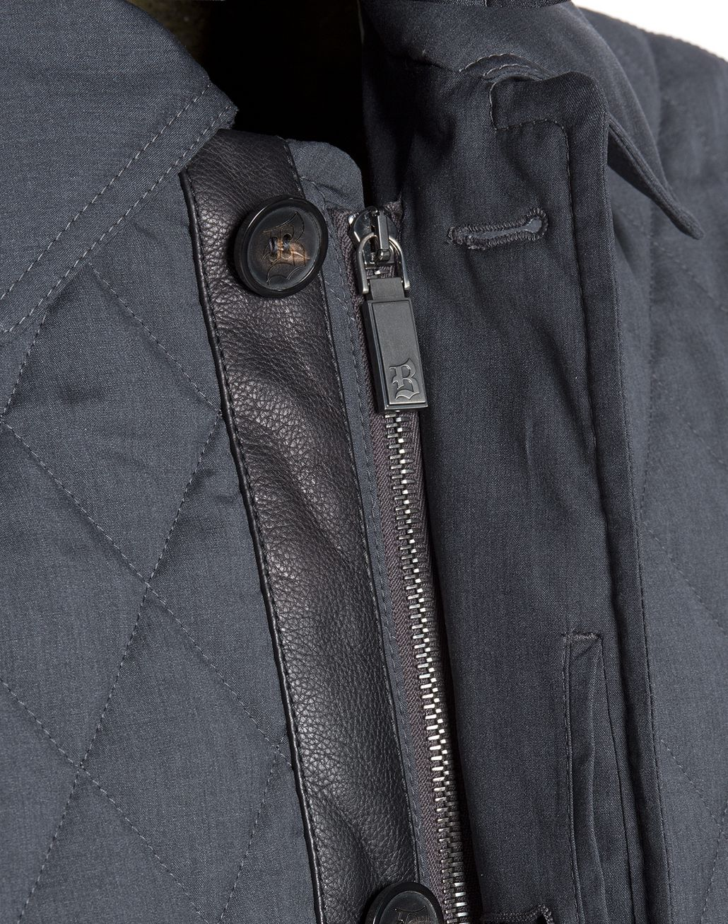 BRIONI Grey Melange Quilted Field Jacket Coats & Raincoats Man e