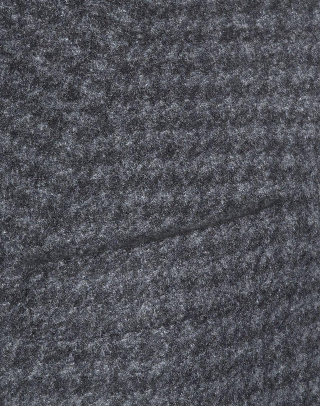 BRIONI Grey Macro Pied de Poule Plume Coat in Cashmere Outerwear U d