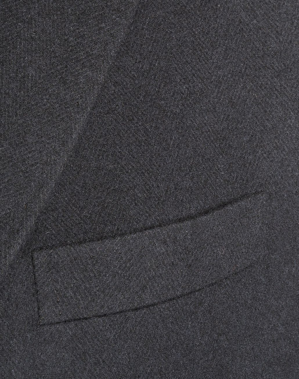 BRIONI Charcoal Single Breasted Grey Coat Outerwear Man d