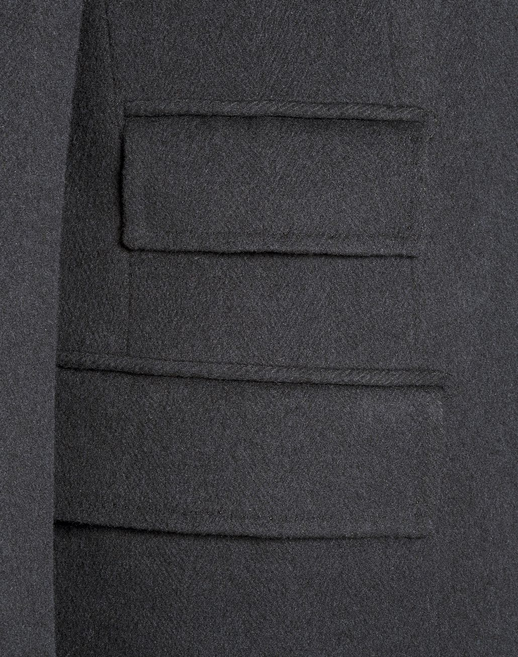 BRIONI Charcoal Single Breasted Grey Coat Outerwear [*** pickupInStoreShippingNotGuaranteed_info ***] e