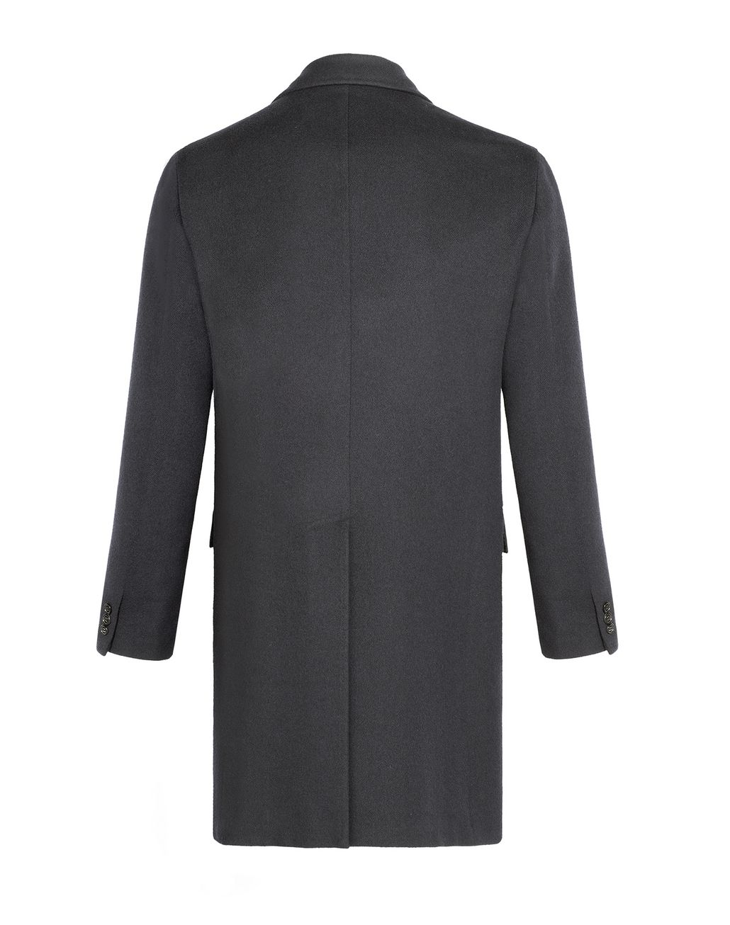 BRIONI Charcoal Single Breasted Grey Coat Outerwear Man r