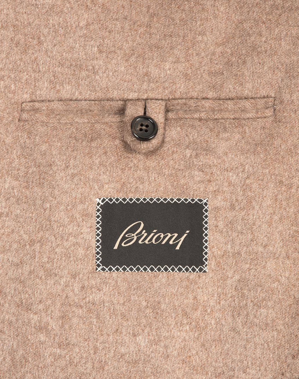 BRIONI Beige Double Breasted Caashmere Plume Coat Outerwear U e