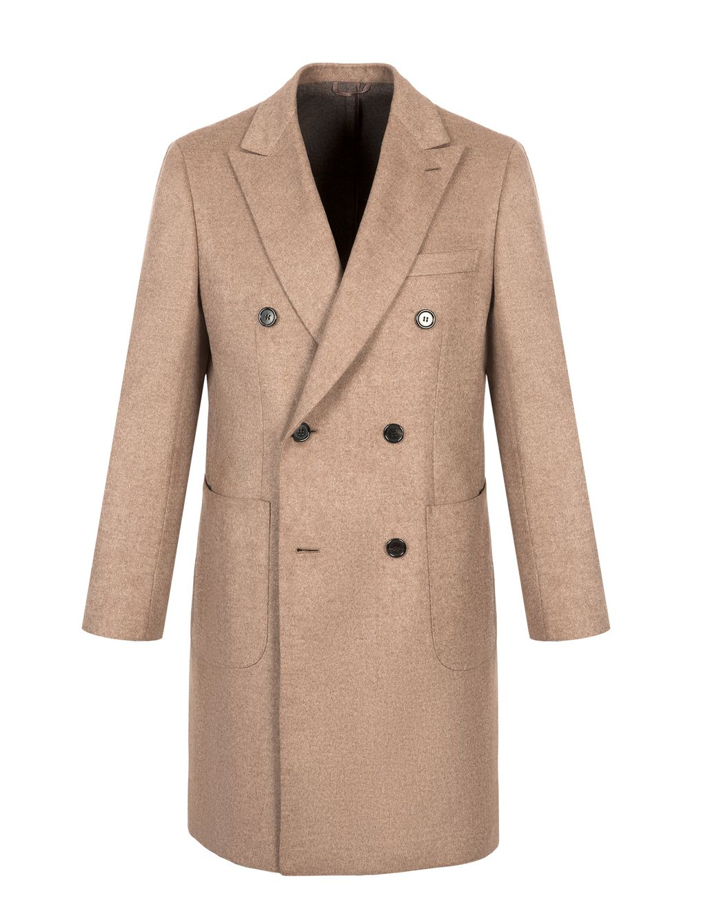BRIONI Beige Double Breasted Cashmere Plume Coat Outerwear Man f